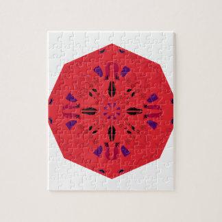 Mandala Ethno ROUGE FOLKLORIQUE créatif. Atelier Puzzle