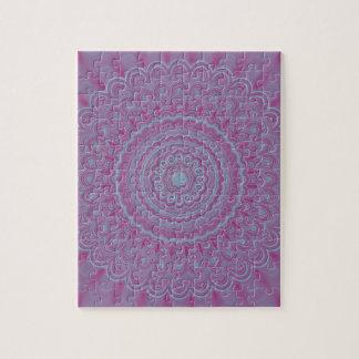 Mandala géométrique de fleur puzzle