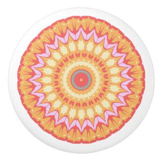 Mandala lumineux rose assez orange