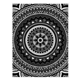mandala noir blanc cartes postales originales. Black Bedroom Furniture Sets. Home Design Ideas