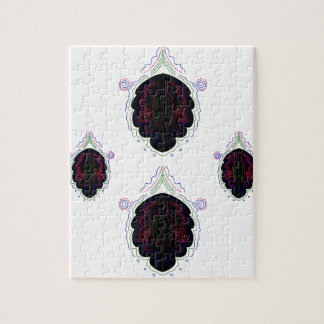Mandala noir et blanc de luxe puzzle