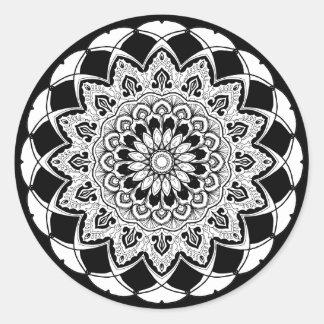 autocollants stickers mandala noir et blanc. Black Bedroom Furniture Sets. Home Design Ideas