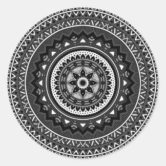 mandala noir et blanc autocollants stickers. Black Bedroom Furniture Sets. Home Design Ideas