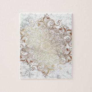 Mandala - or et marbre puzzle