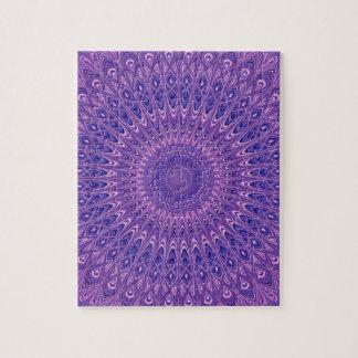 Mandala pourpre puzzle