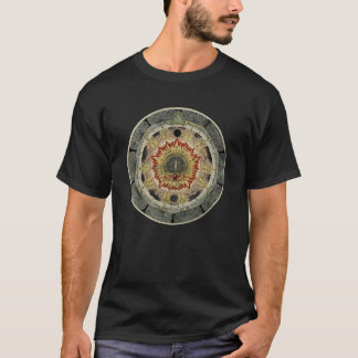 Mandala rose cosmique t-shirt