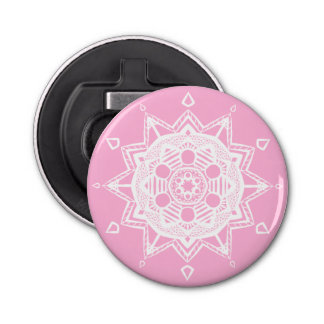 Mandala rose décapsuleur