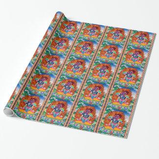 Mandala tibétain oriental frais de tatouage d'un papier cadeau
