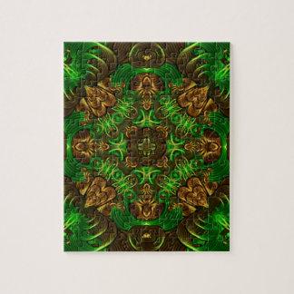 Mandala vert de chemin puzzle