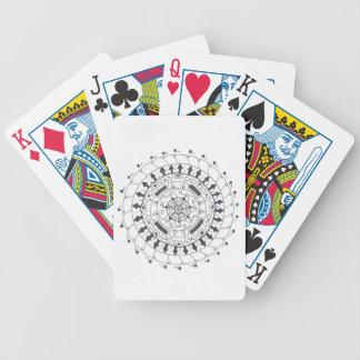 Mandalaart. van de Speelkaarten van de Pook van Poker Kaarten