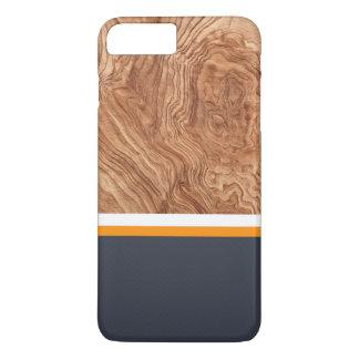Mandarine de marine et bois blanc coque iPhone 8 plus/7 plus