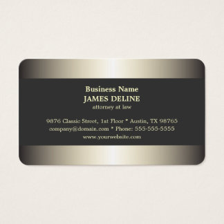 Mandataire élégante professionnelle en métal cartes de visite