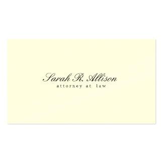 Mandataire minimaliste élégante crème cartes de visite personnelles