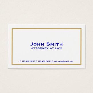 Mandataire simple blanche élégante simple cartes de visite