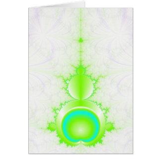 Mandelbrot en vert et carte de turquoise