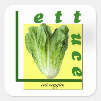 Mangeons du légume sticker carré