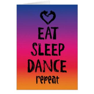 Mangez, dormez, dansez la carte