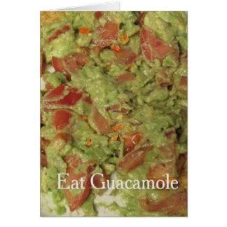 Mangez la carte de guacamole