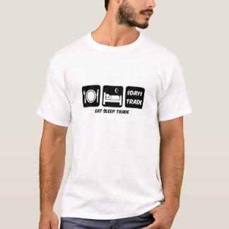 mangez le commerçant de jour de sommeil t-shirt