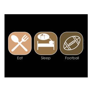 Mangez le football de sommeil carte postale