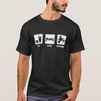 Mangez le motocross de sommeil t-shirt