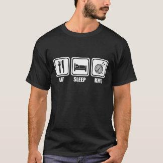 Mangez le T-shirt de Knit de sommeil