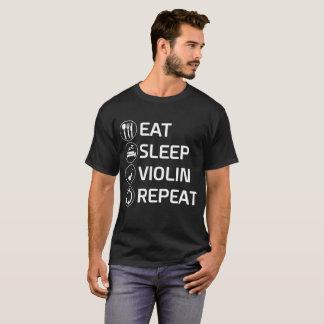 Mangez le T-shirt d'instrument de ficelle de