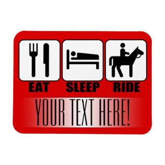 Mangez le tour de sommeil un texte de cheval et un magnet flexible