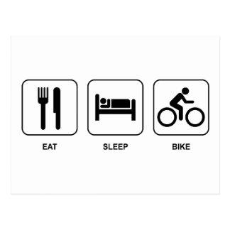 Mangez le vélo de sommeil carte postale