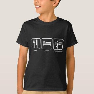 Mangez le volleyball de sommeil t-shirt