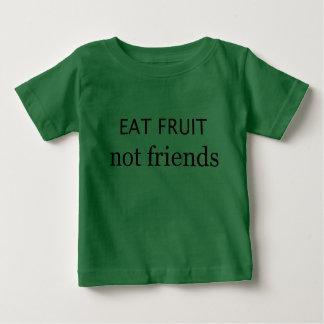 Mangez les amis de fruit pas t-shirt pour bébé