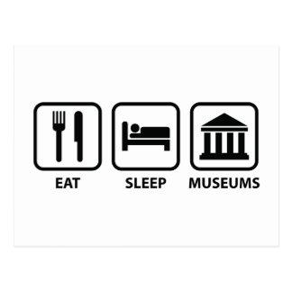 Mangez les musées de sommeil carte postale