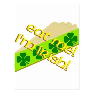 Mangez-moi tarte de shamrock carte postale