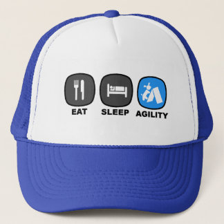 Mangez. Sommeil. Agilité. Bleu Casquette