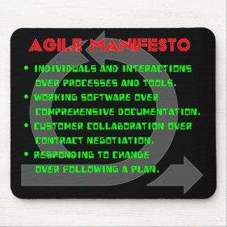 Manifeste agile Mousepad Tapis De Souris