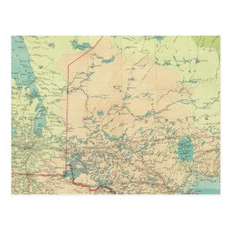 Manitoba et Ontario du nord-ouest Carte Postale