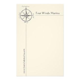 Mannelijke ZeevaartKantoorbehoeften met Antiek Kom Briefpapier