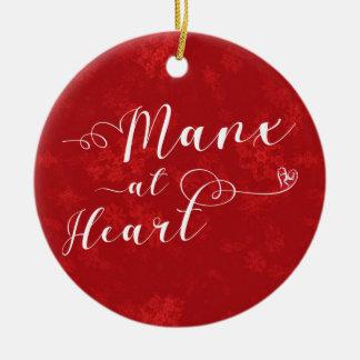 Mannois au coeur, ornement d'arbre de Noël