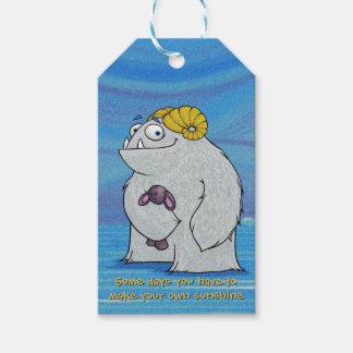 Manny le yeti, étiquettes de cadeau