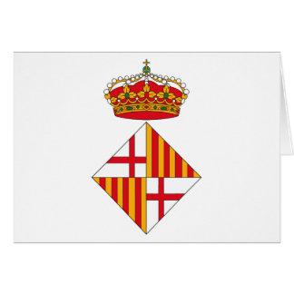 Manteau de Barcelone de carte de voeux de bras