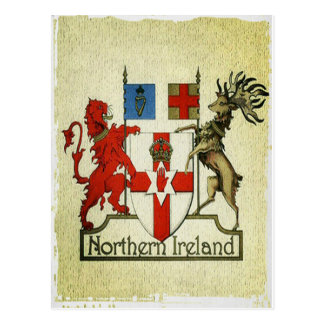 Manteau-de-bras de l'Irlande du Nord Cartes Postales