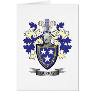 Manteau de crête de famille de Murray des bras Carte De Vœux