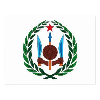 Manteau de Djibouti de carte postale de bras