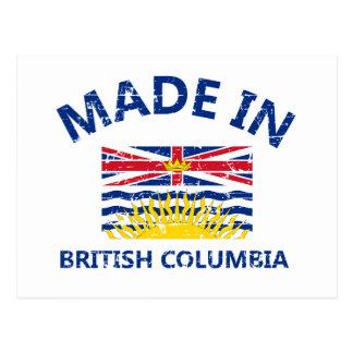 manteau de la Colombie des bras britannique Carte Postale