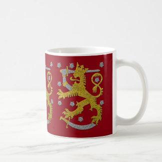 Manteau de la Finlande de regard de relief de bras Mug Blanc