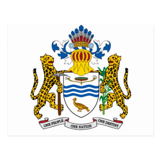 Manteau de la Guyane des bras Carte Postale