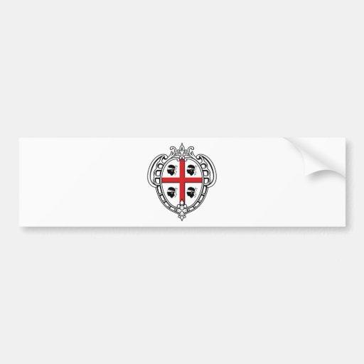 Manteau de la Sardaigne (Italie) des bras Adhésifs Pour Voiture