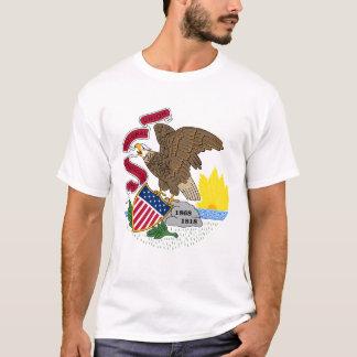 Manteau de l'Illinois des bras, T-shirt de drapeau