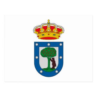 Manteau de Madrid de carte postale de bras