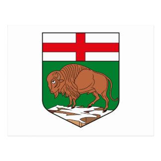 Manteau de Manitoba de carte postale de bras